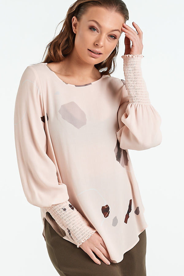 POLISHED TOP | BLUSH MINERAL - NYNE - NZ Made Women's Clothing