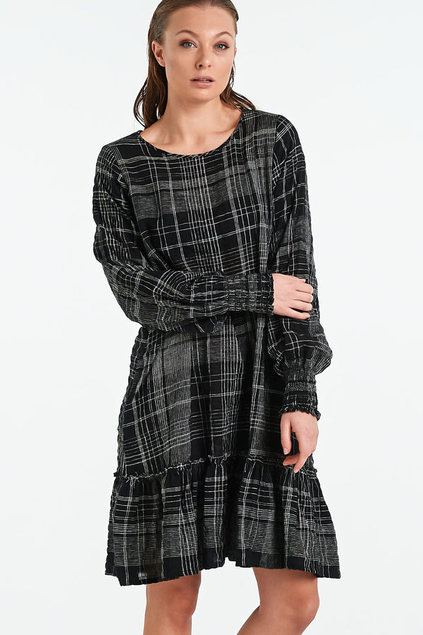 VERONA DRESS | BLACK CHECK - NYNE - NZ Made Women's Clothing