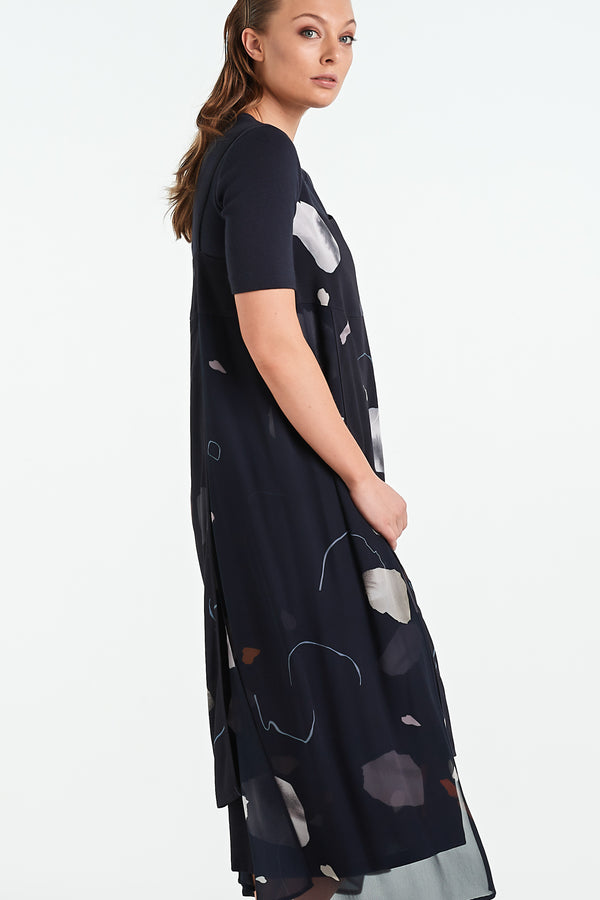 TERRAZZO DRESS | INK MINERAL - NYNE - NZ Made Women's Clothing