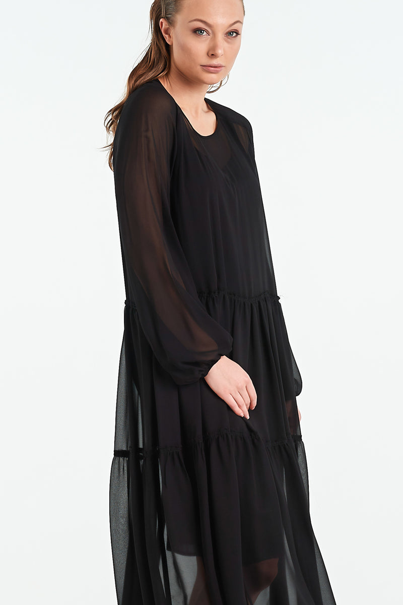 QUARTZ DRESS | BLACK - NYNE - NZ Made Women's Clothing