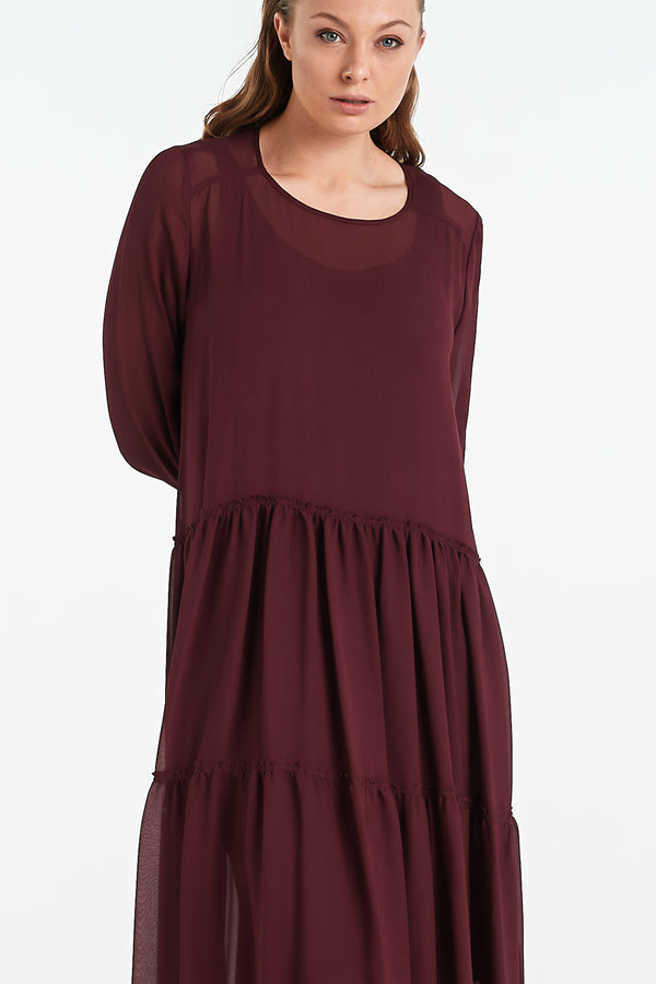 QUARTZ DRESS | BLACK CHERRY - NYNE - NZ Made Women's Clothing