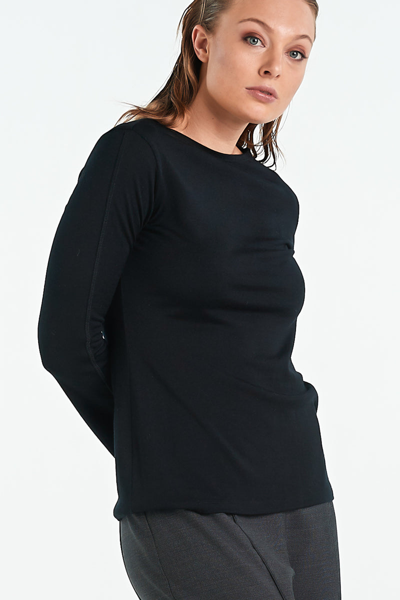 MOSAIC TOP | BLACK - NYNE - NZ Made Women's Clothing