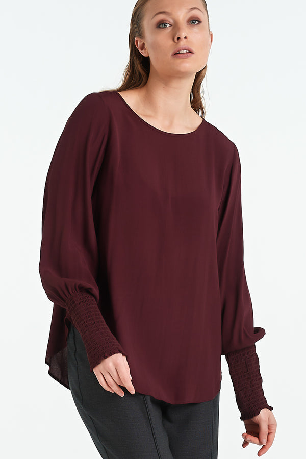 POLISHED TOP | BLACK CHERRY - NYNE - NZ Made Women's Clothing