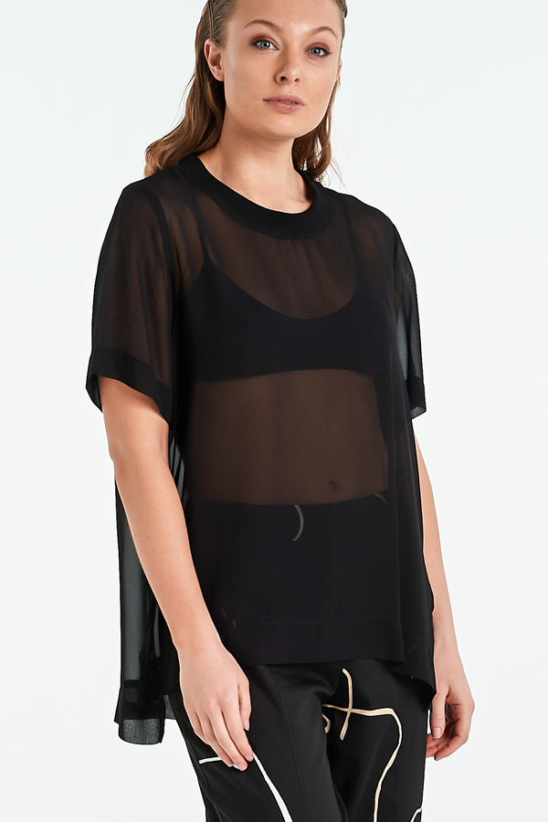 COMPOSITE TOP | BLACK - NYNE - NZ Made Women's Clothing