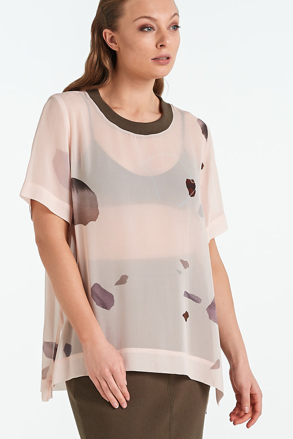 COMPOSITE TOP | BLUSH MINERAL - NYNE - NZ Made Women's Clothing
