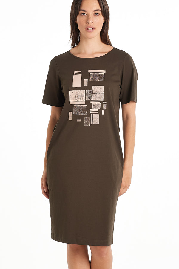 Distant Dress | Stamp Print | NYNE | Online Store