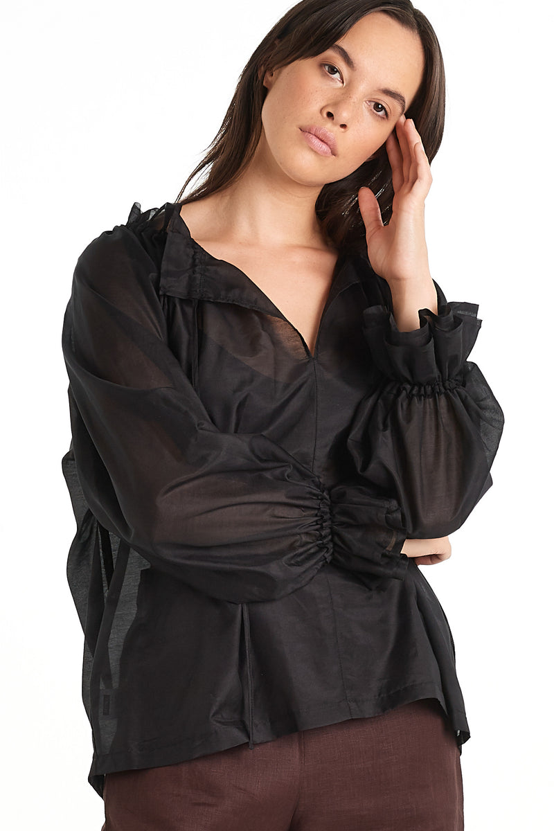 Pottery Top | Black | NYNE | Online Store