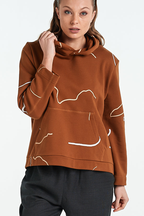 ONYX HOOD | TOBACCO OBJECT - NYNE - NZ Made Women's Clothing