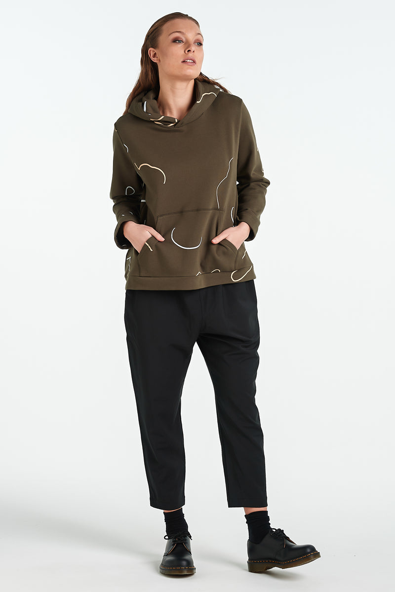 ONYX HOOD | KHAKI OBJECT - NYNE - NZ Made Women's Clothing