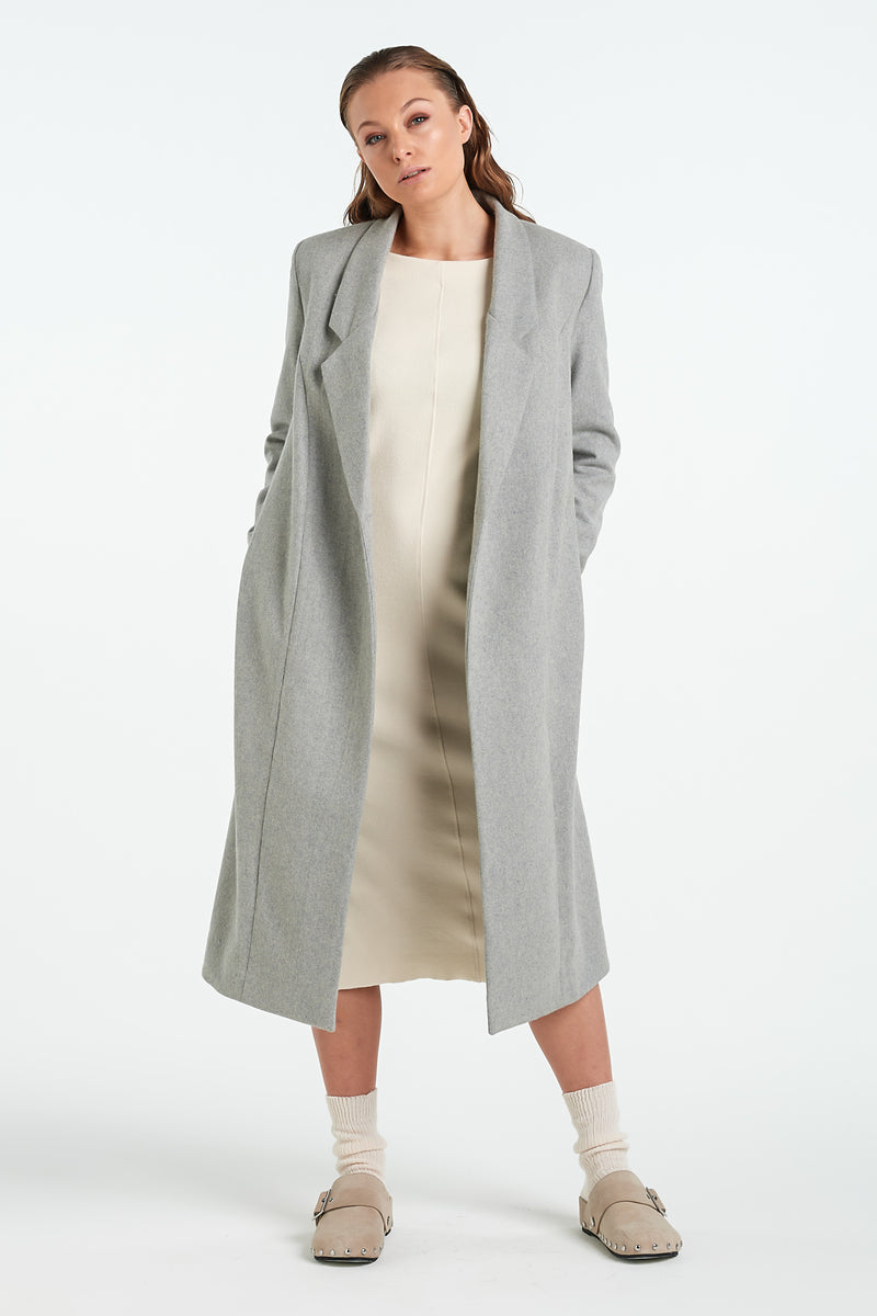 PEARL COAT | SILVER - NYNE - NZ Made Women's Clothing