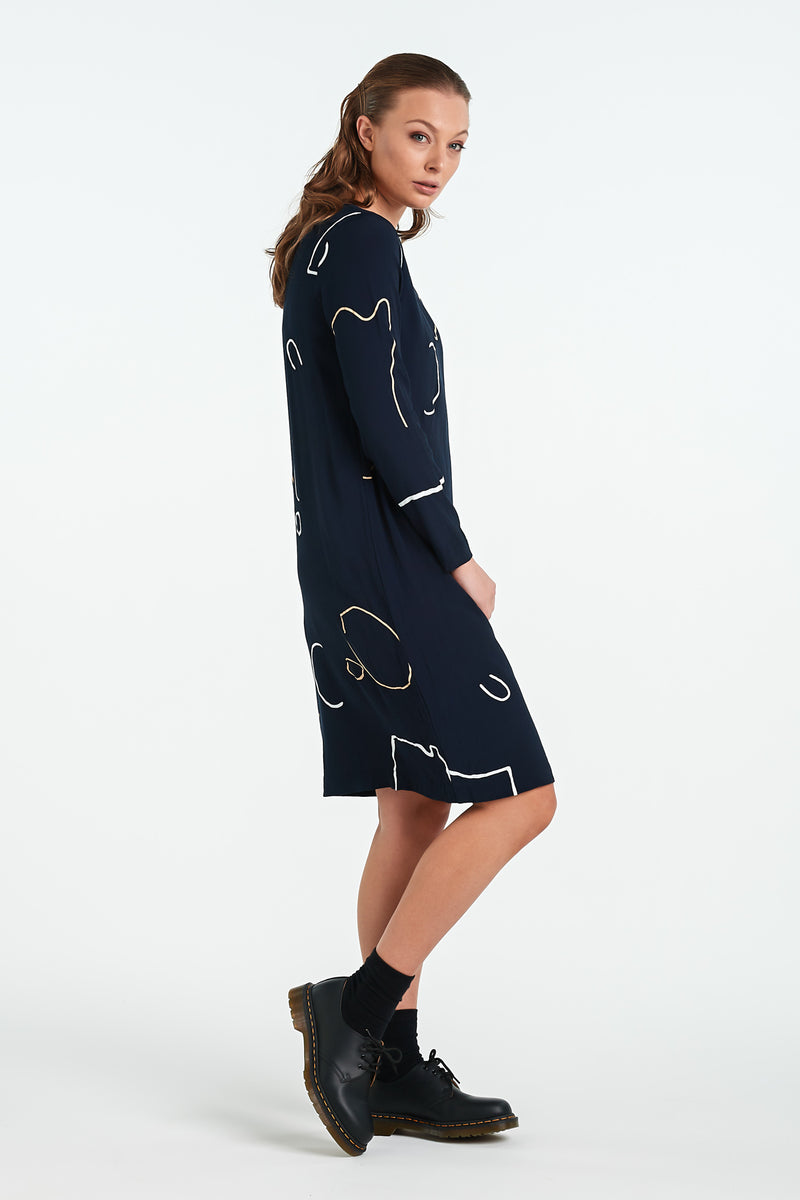 HARMONY DRESS | INK OBJECT - NYNE - NZ Made Women's Clothing