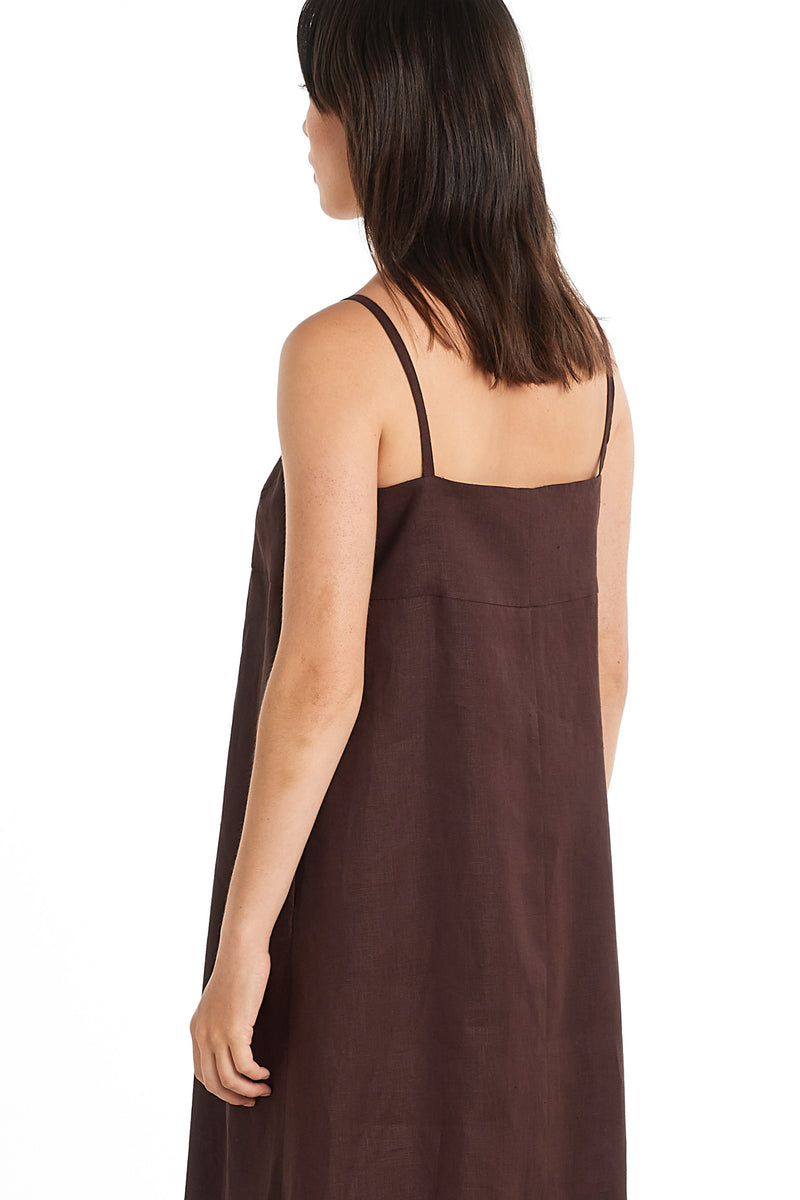 Shadow Dress | Chocolate | NYNE | Online Store