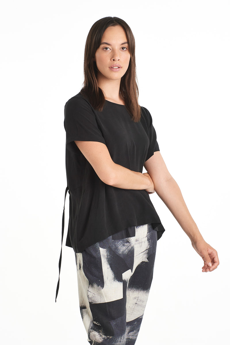 Print Top | Black | NYNE | Online Store