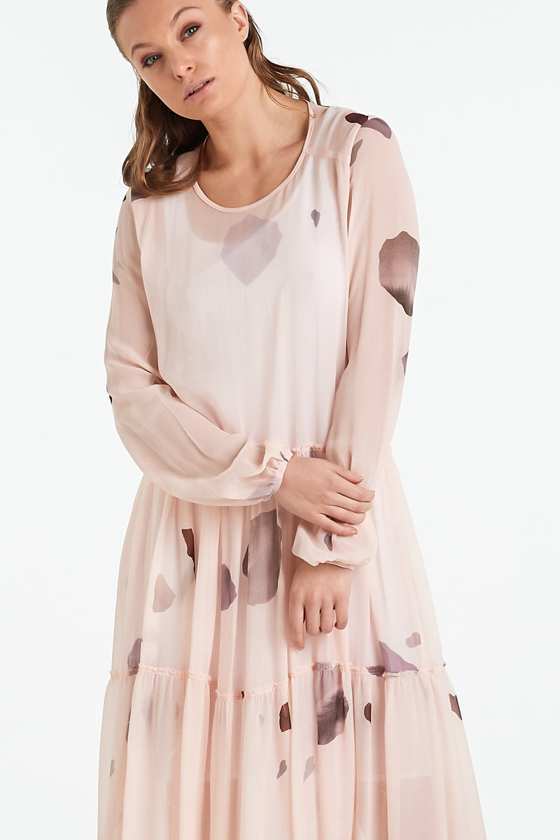 QUARTZ DRESS | BLUSH MINERAL - NYNE - NZ Made Women's Clothing