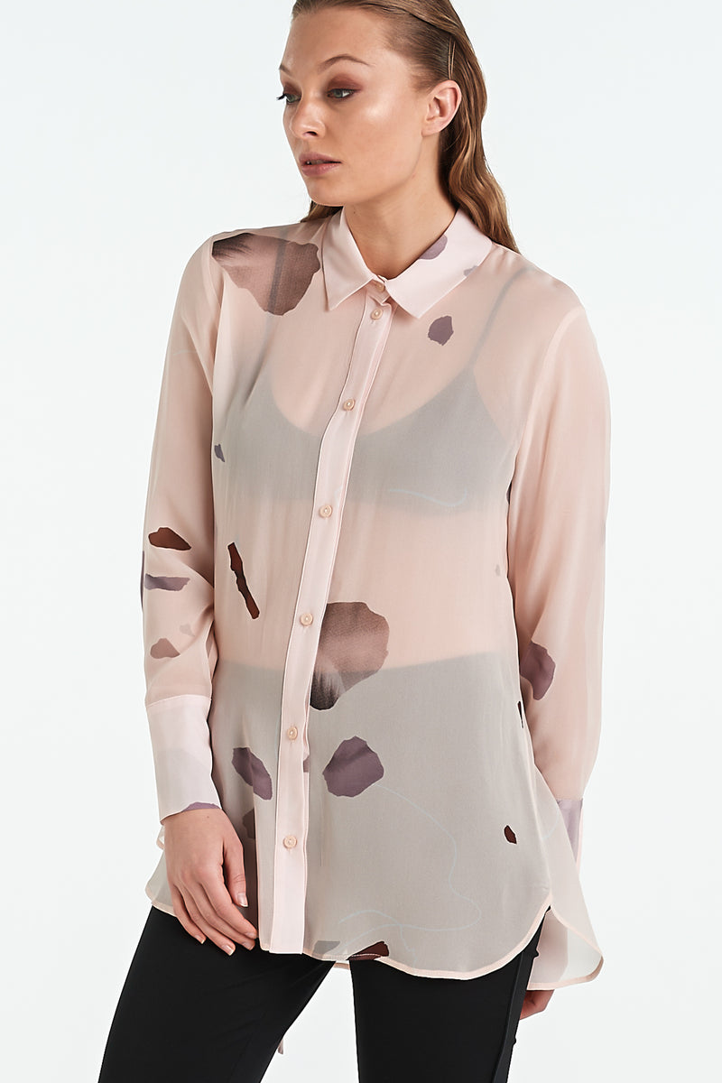 TEXTURE SHIRT | BLUSH MINERAL - NYNE - NZ Made Women's Clothing