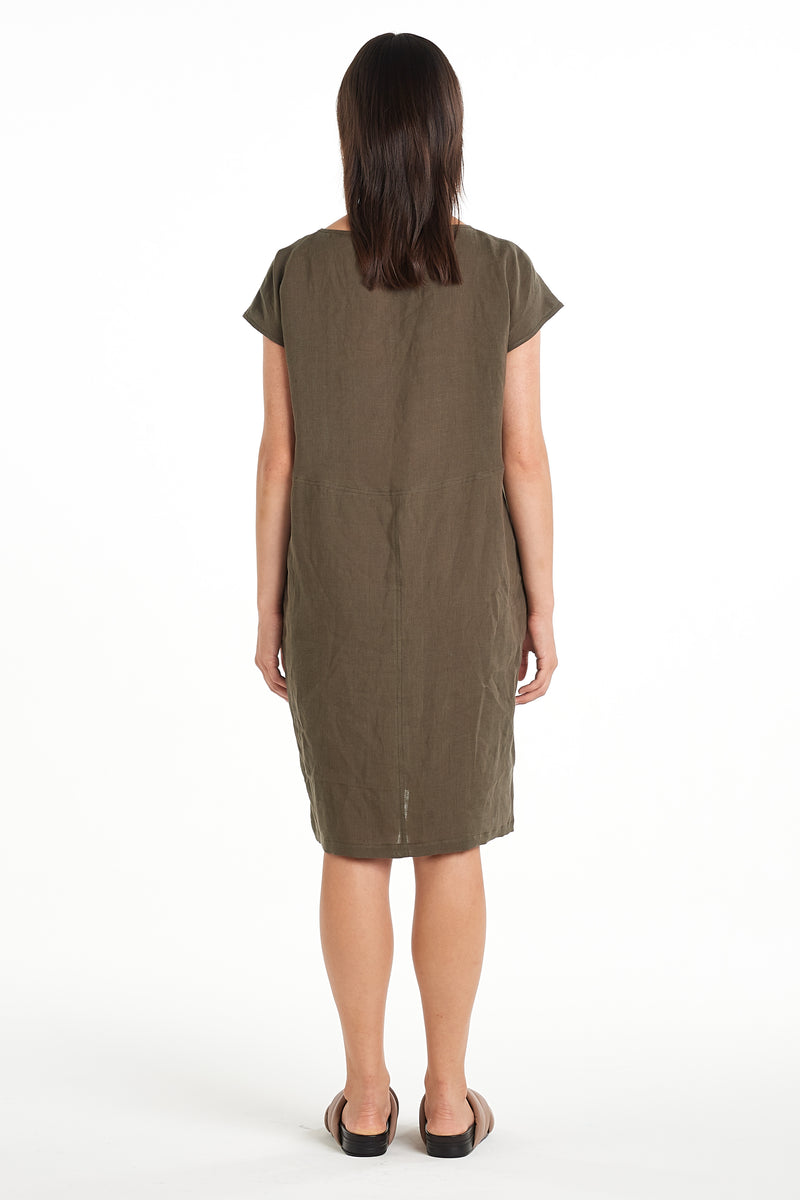 Graphic Dress | Khaki | NYNE | Online Store