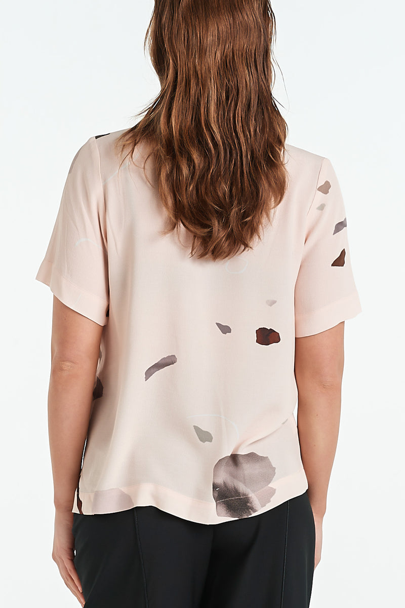 ARC TOP | BLUSH MINERAL - NYNE - NZ Made Women's Clothing