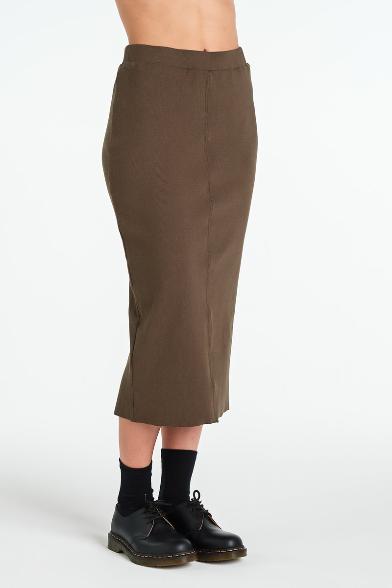 LAYER SKIRT | KHAKI - NYNE - NZ Made Women's Clothing