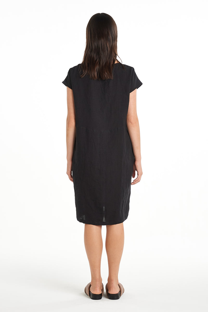 Graphic Dress | Black | NYNE | Online Store
