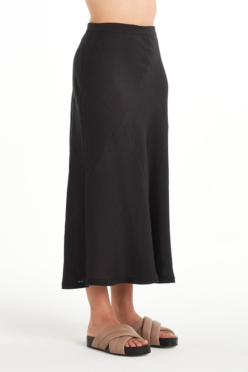 Sculpture Skirt | Black | NYNE | Online Store