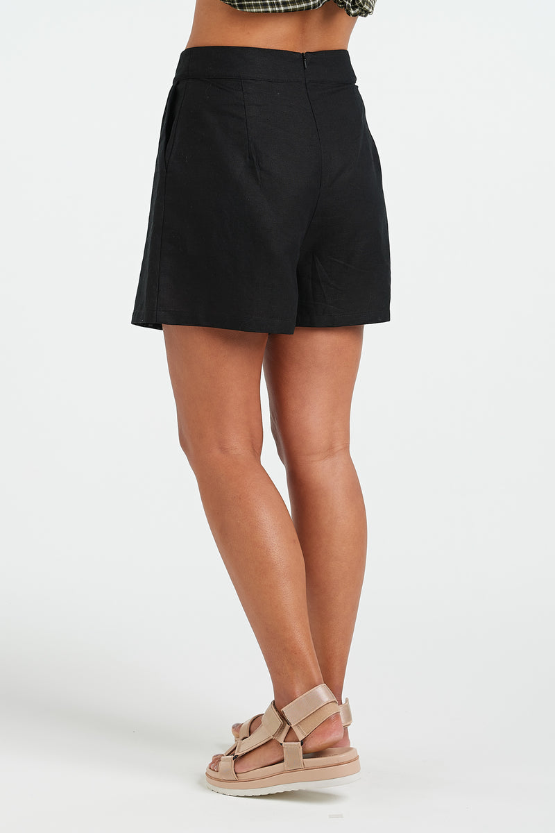 EVERYDAY SHORT | BLACK - NYNE - NZ Made Women's Clothing
