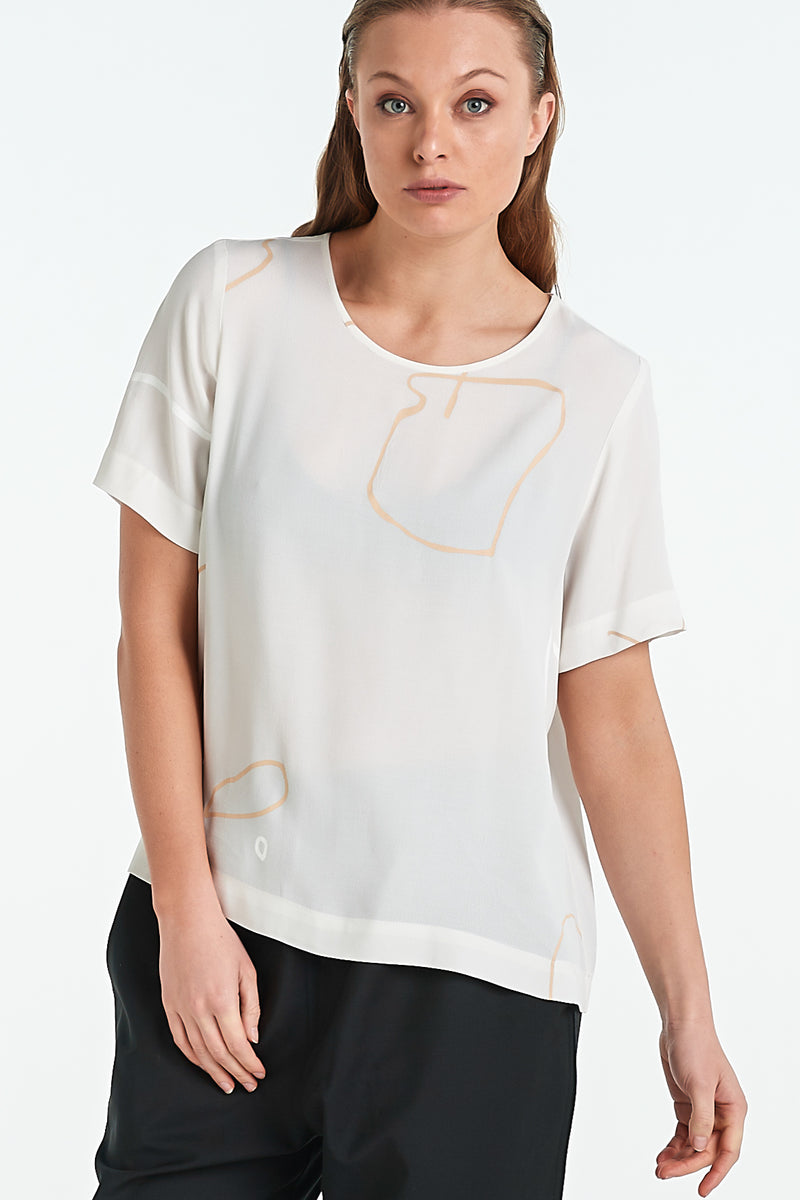 ARC TOP | IVORY OBJECT - NYNE - NZ Made Women's Clothing
