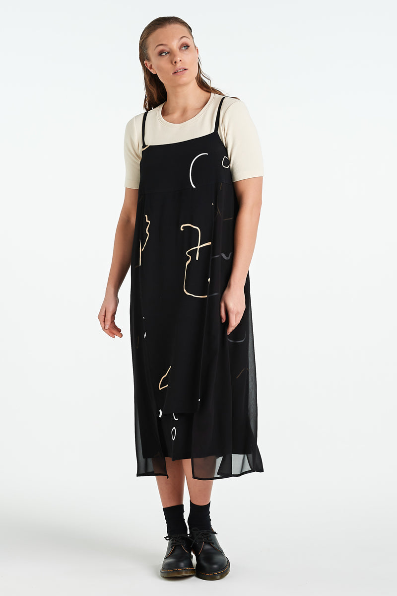 TERRAZZO DRESS | BLACK OBJECT - NYNE - NZ Made Women's Clothing