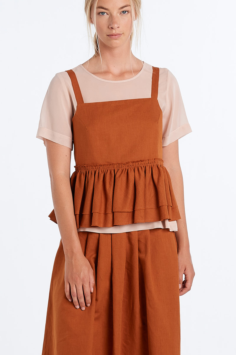 LIGHT TOP | RUST - NYNE - NZ Made Women's Clothing