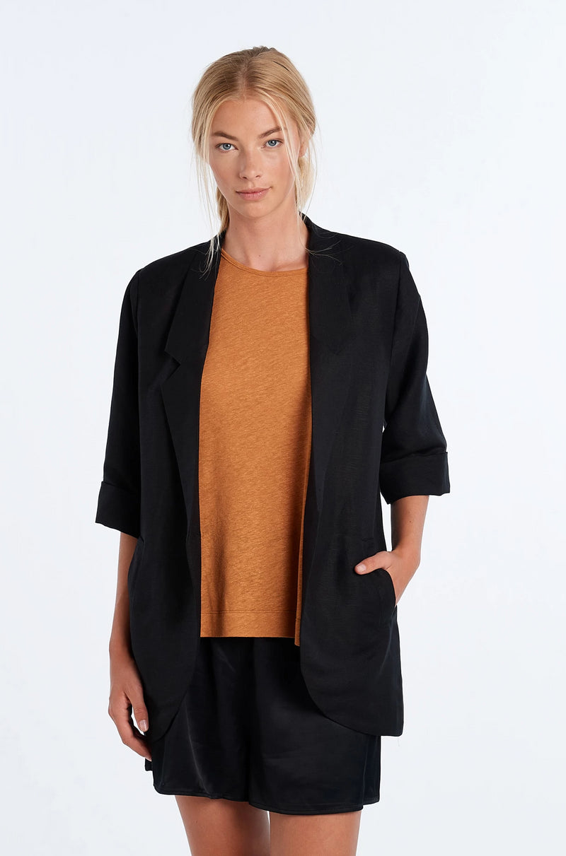 WORLD BLAZER | BLACK - NYNE - NZ Made Women's Clothing