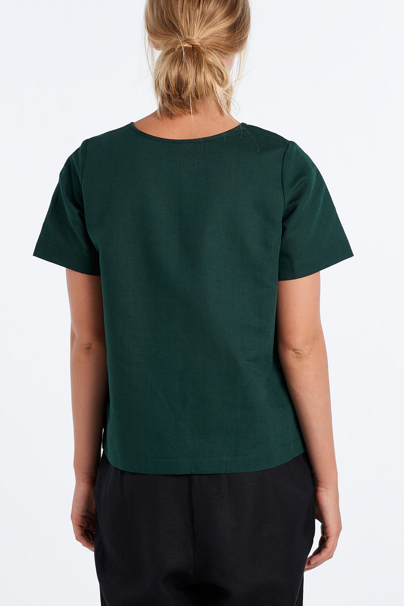 ARC TOP | FOREST - NYNE - NZ Made Women's Clothing