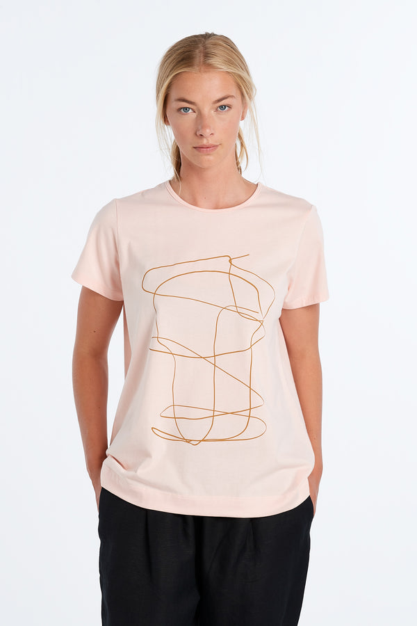 OUTLINE T-SHIRT | BLUSH - NYNE - NZ Made Women's Clothing