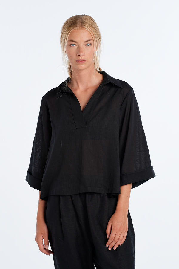 SUBTLE SHIRT | BLACK - NYNE - NZ Made Women's Clothing