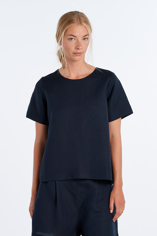 ARC TOP | INK - NYNE - NZ Made Women's Clothing