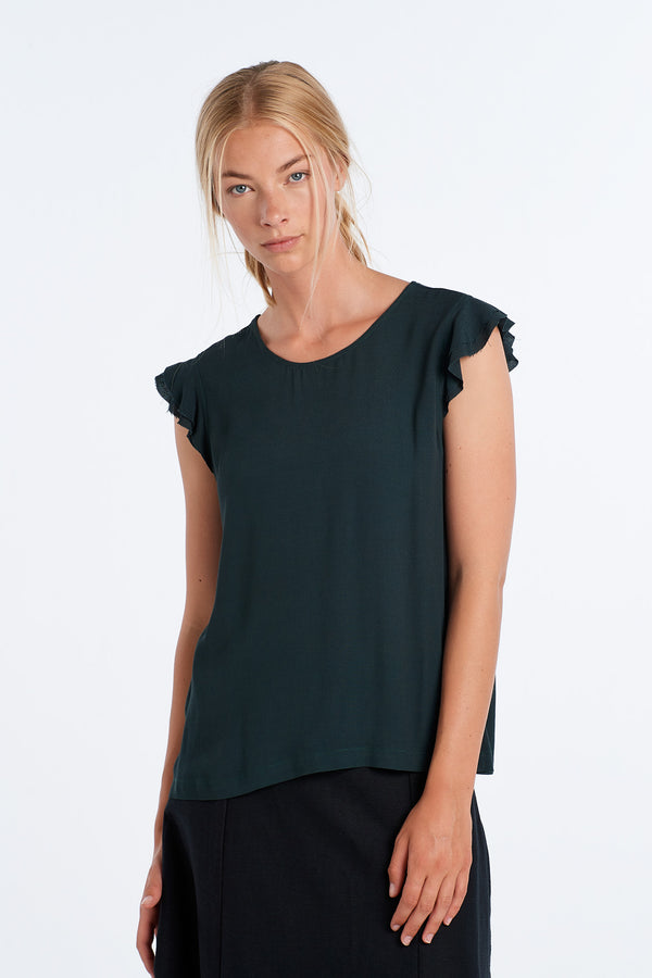 FORM TOP | DEEP FOREST - NYNE - NZ Made Women's Clothing