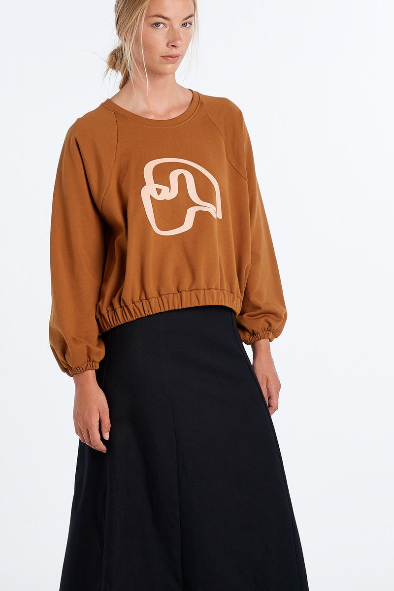 PEARY JERSEY | RUST - NYNE - NZ Made Women's Clothing