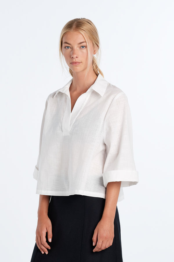 SUBTLE SHIRT | IVORY - NYNE - NZ Made Women's Clothing