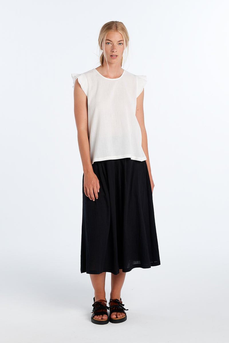FORM TOP | IVORY GAUZE - NYNE - NZ Made Women's Clothing