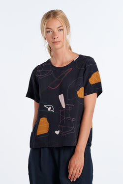 ARC TOP | INK PRINT - NYNE - NZ Made Women's Clothing