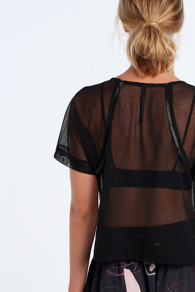 JOURNEY TOP | BLACK MESH - NYNE - NZ Made Women's Clothing