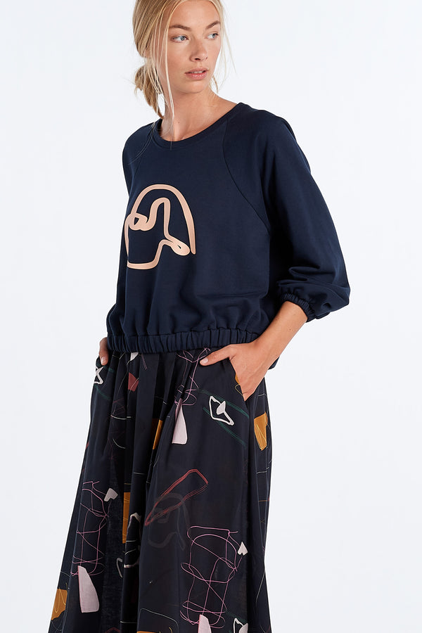 PEARY JERSEY | INK - NYNE - NZ Made Women's Clothing