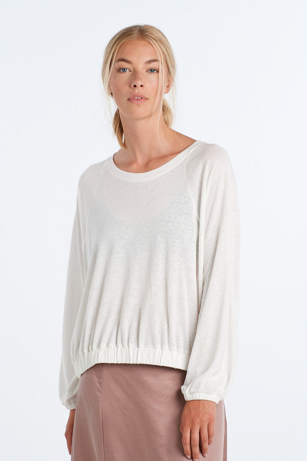 SHAPE LONG SLEEVE | IVORY - NYNE - NZ Made Women's Clothing