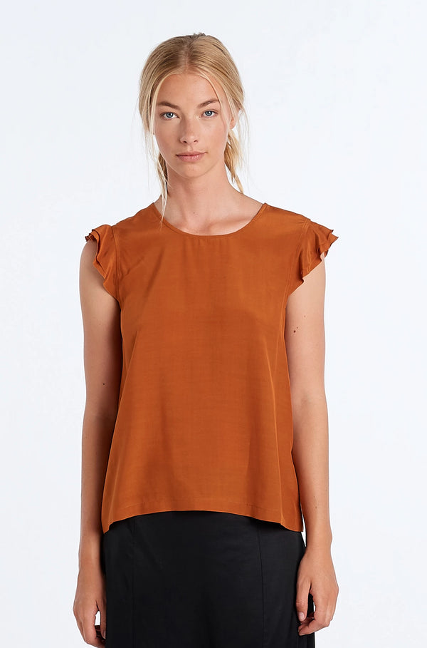 FORM TOP | RUST - NYNE - NZ Made Women's Clothing