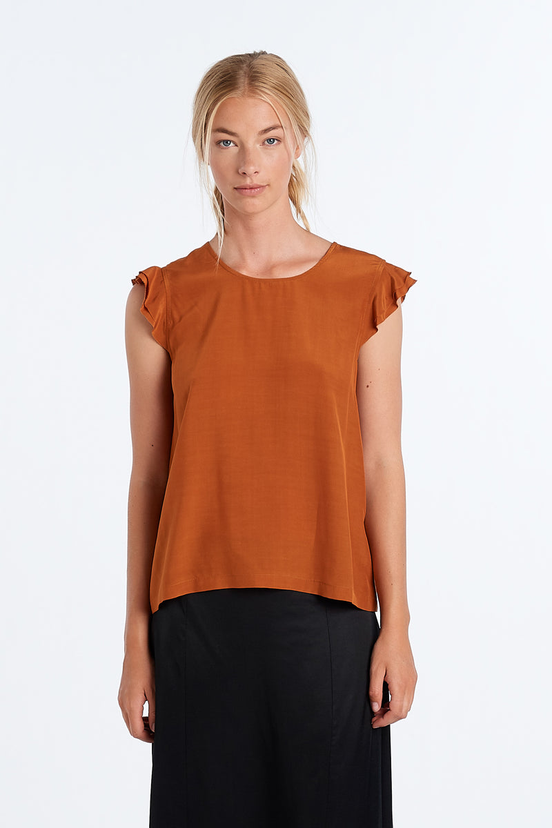 FORM TOP | RUST DECHINE - NYNE - NZ Made Women's Clothing