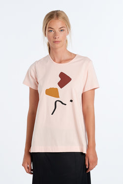 ABSTRACT T-SHIRT | BLUSH - NYNE - NZ Made Women's Clothing