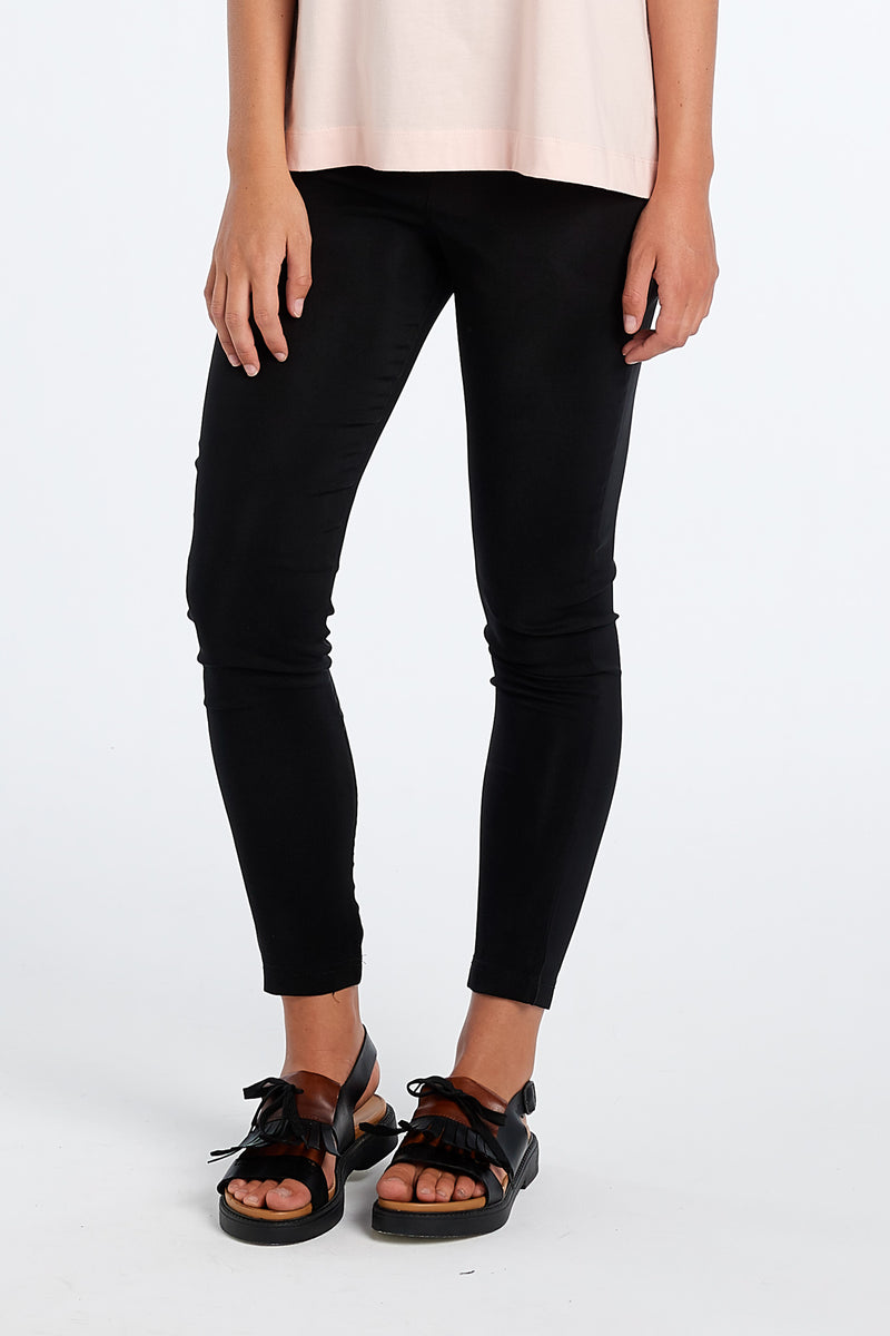 PHOENIX PANT | BLACK SATIN - NYNE - NZ Made Women's Clothing