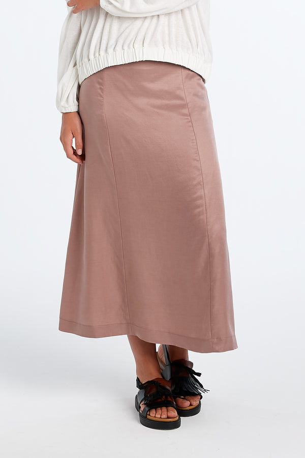 PRACTICE SKIRT | BLUSH SATIN - NYNE - NZ Made Women's Clothing