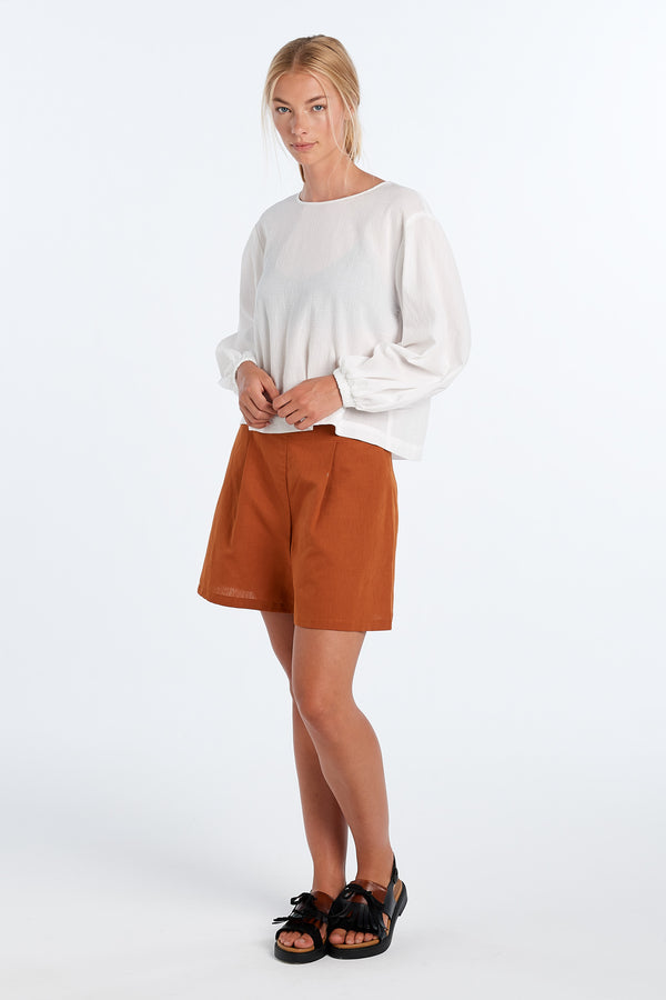 EVERYDAY SHORTS | RUST - NYNE - NZ Made Women's Clothing