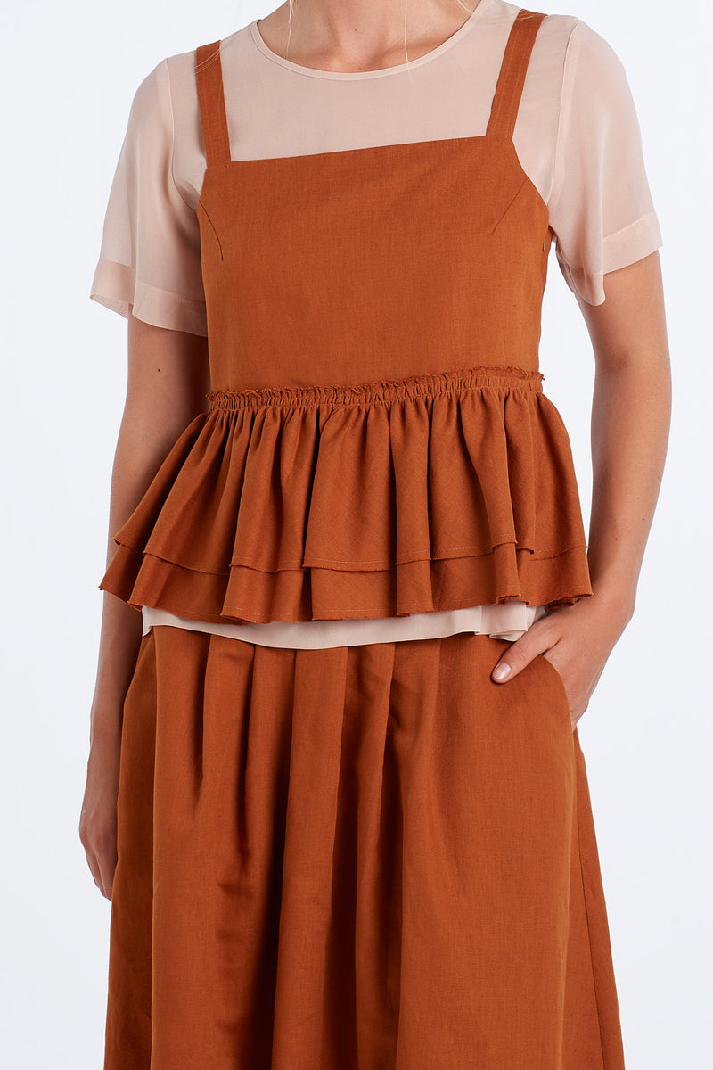 INTUITION SKIRT | RUST - NYNE - NZ Made Women's Clothing