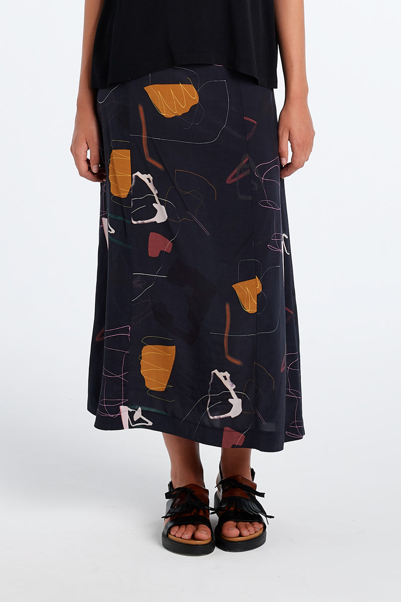 PRACTICE SKIRT | INK PRINT - NYNE - NZ Made Women's Clothing