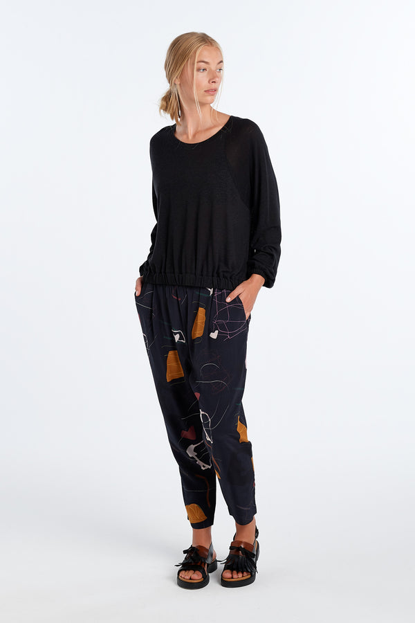 LENNOX PANT | INK PRINT - NYNE - NZ Made Women's Clothing